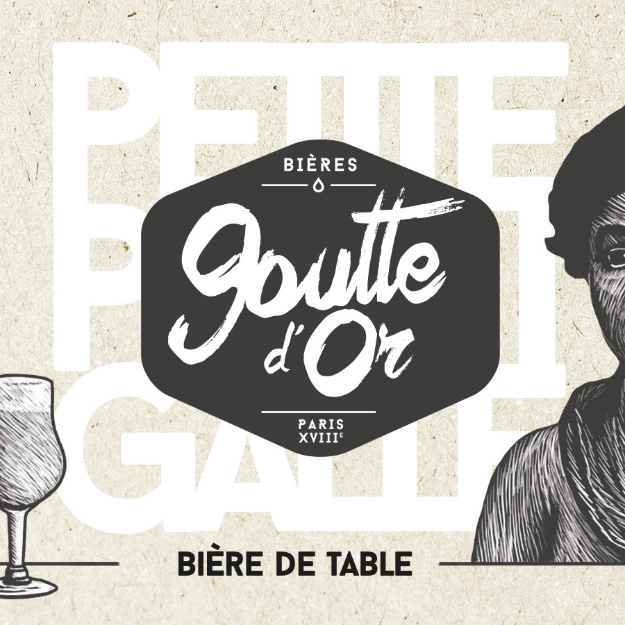 la bière de table de la Goutte d'Or